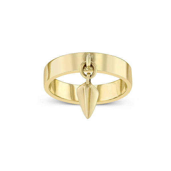 spear pinky ring 14k