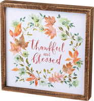 Box Sign - Thankful & Blessed