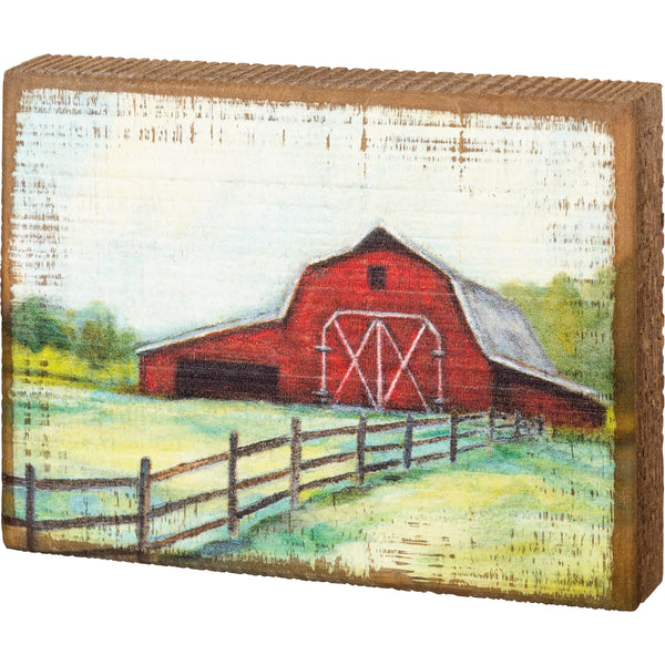 Barn Block Sign