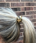 cheetah hair tie and cover