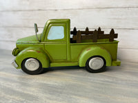Green Metal Farm Truck