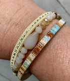 bracelet - leather stack