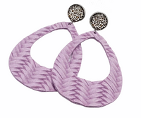 Leopard & Braided Leather Hoops