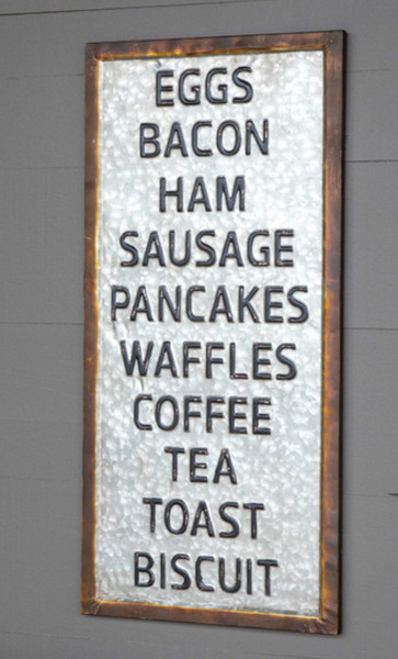 what's for breakfast sign