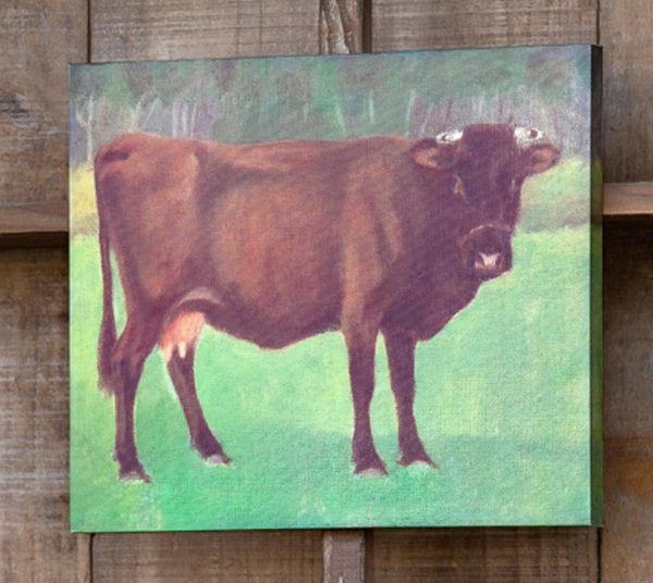 primitive cow print