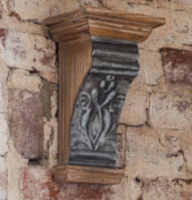 embossed tin molding wall sconce