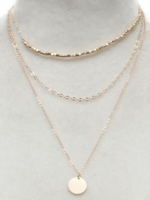 3 strand gold necklace