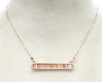 Orange Bar Necklace