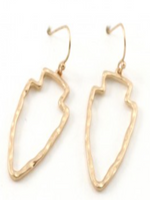 arrowhead small open earrings