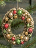 Bottlebrush Wreath Ornament