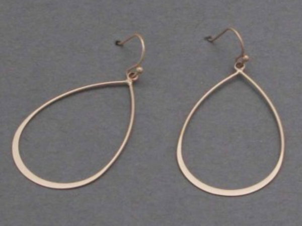 Thin Metal Teardrop Earrings