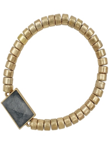 Gold Stretch Bracelet