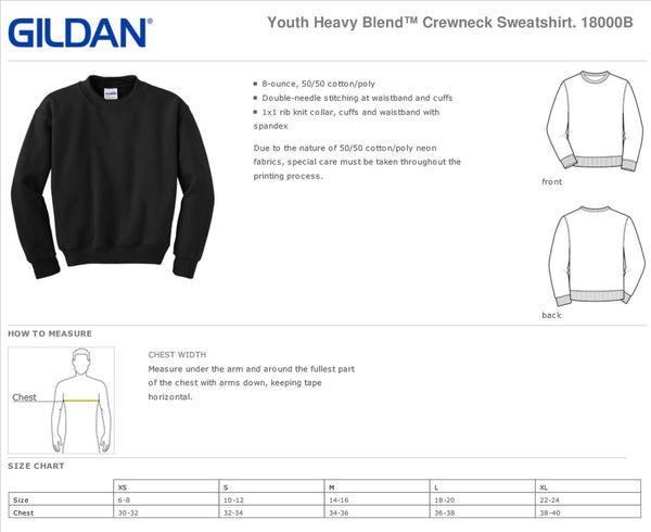 Brigham Academy Youth Heavy Blend Crewneck Sweatshirt - RED