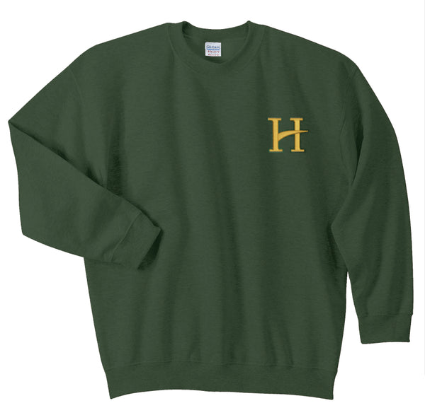 Hillcrest Basic Cotton/Poly Blend Sweatshirt - Forest