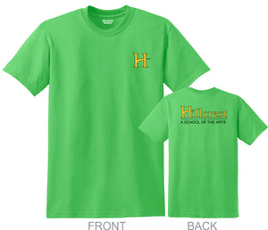 Hillcrest Basic Student T-Shirt - Electric Green