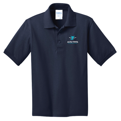 Alta Vista Port & Company® Core Blend Jersey Knit Polo (Youth & Adult) - Navy