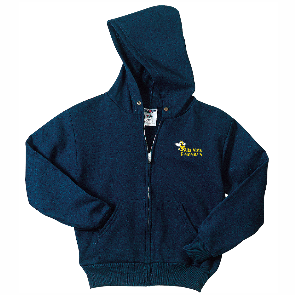 Alta Vista Youth and Adult NuBlend® Full-Zip Hooded Sweatshirt - NAVY