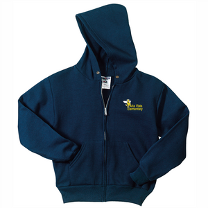 CLEARANCE Alta Vista Youth and Adult NuBlend® Full-Zip Hooded Sweatshirt - NAVY