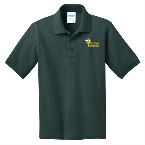 Alta Vista Youth and Adult Core Blend Jersey Knit Polo - DARK GREEN