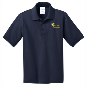 CLEARANCE Alta Vista Youth and Adult Core Blend Jersey Knit Polo - NAVY