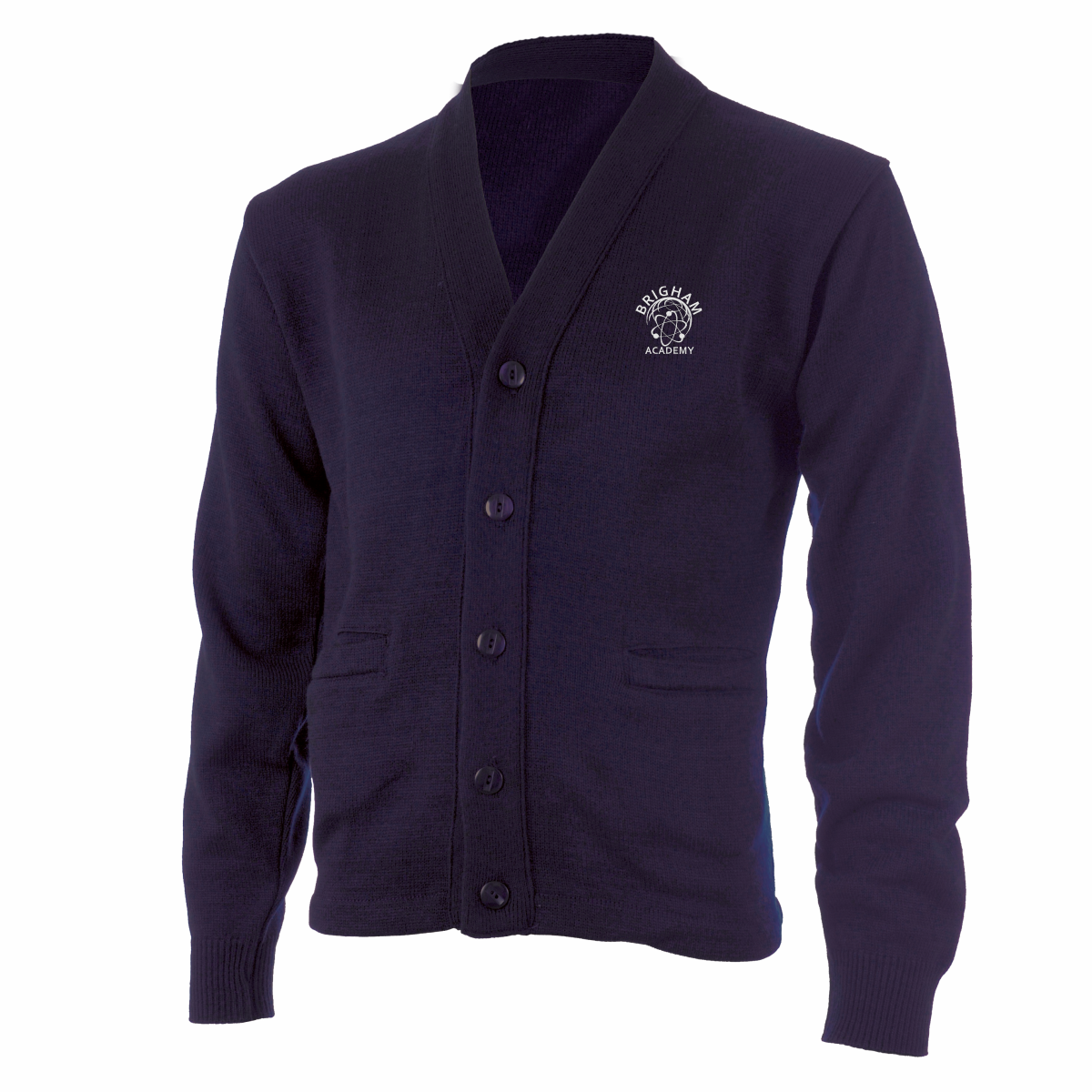 Brigham Academy Cardigan Sweater - NAVY (Youth - Adult) - DISCONTINUED