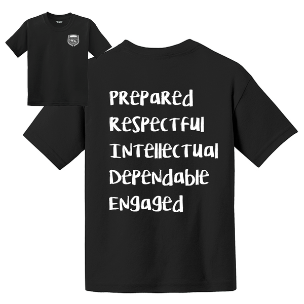 Citrus Ridge Basic Student T-Shirt - Black - (7th grade)