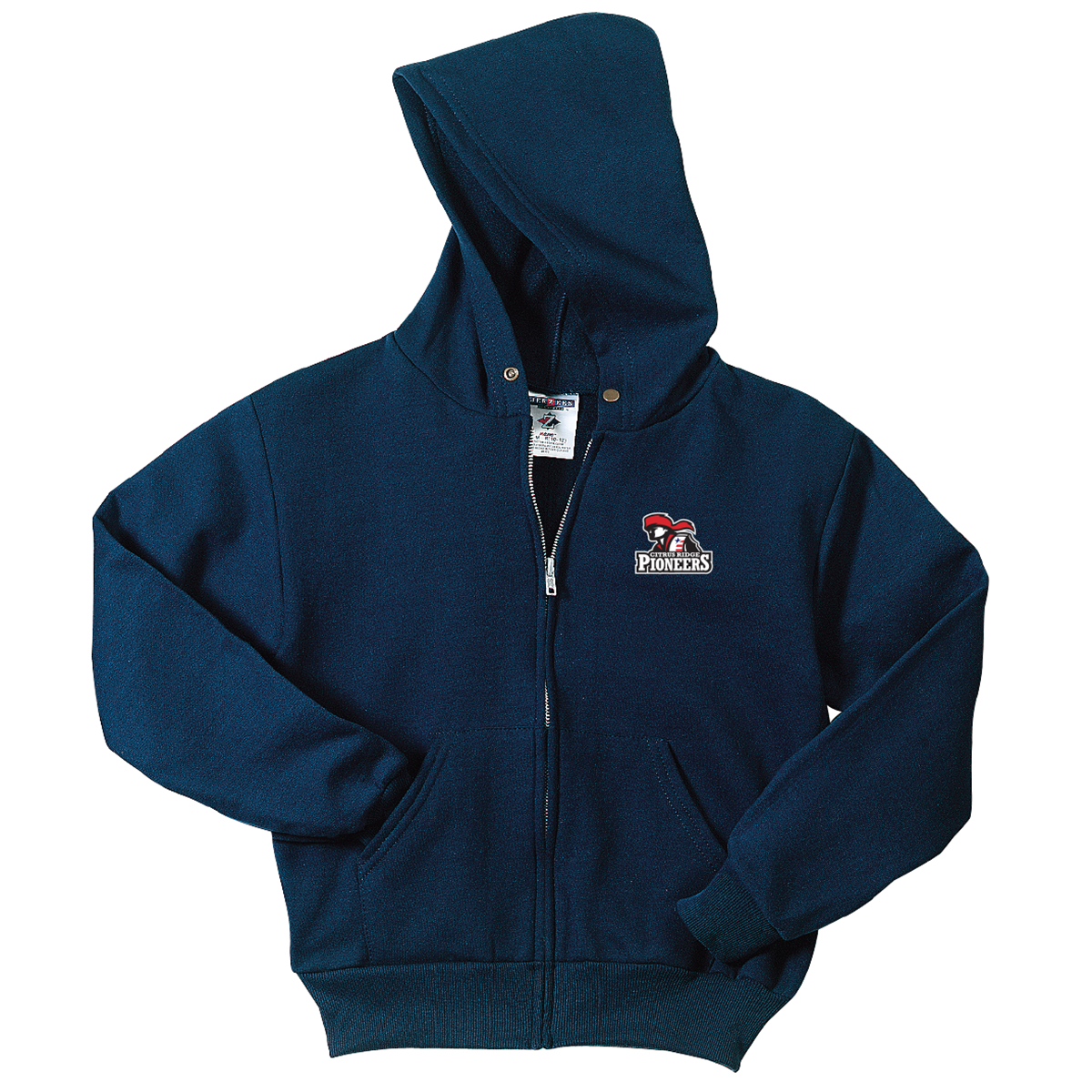 Citrus Ridge Full Zipper Hooded Sweatshirt (Youth and Adult sizes) - Navy - (ALL GRADES)
