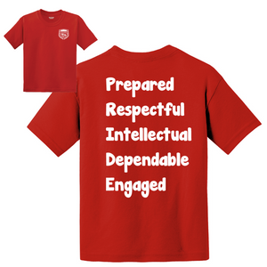 Citrus Ridge Basic Student T-Shirt - Red - (3rd-5th grade)