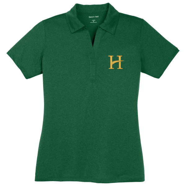 Staff Polo Hillcrest Sport-Tek® Ladies Heather Contender™ Polo - Forest Green Heather