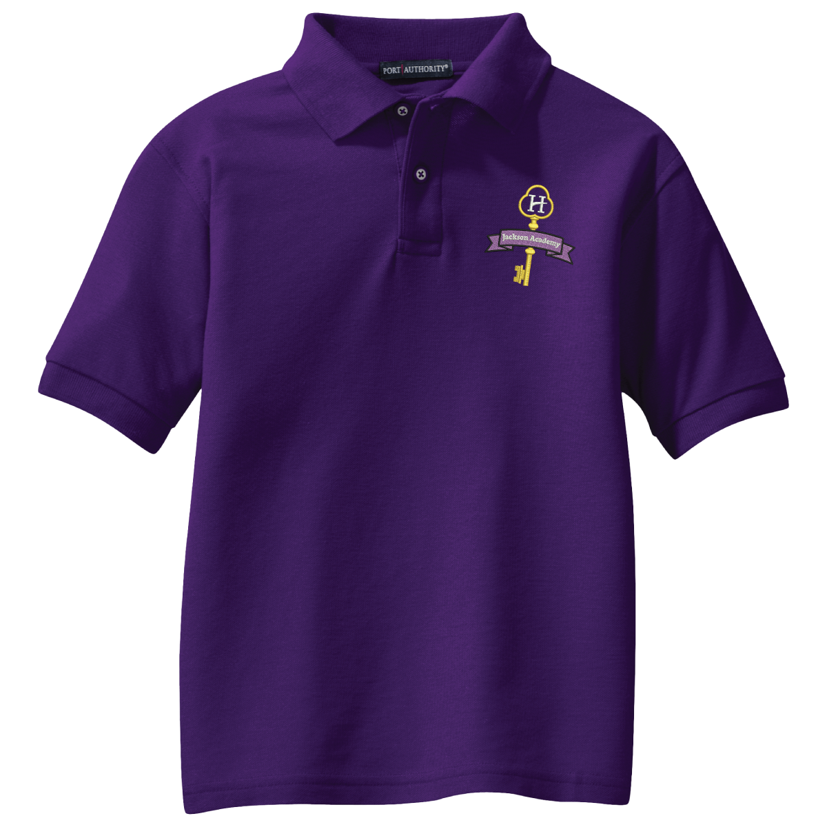 Jackson Academy (Hillcrest) Port Authority® Silk Touch™ Polo - Purple
