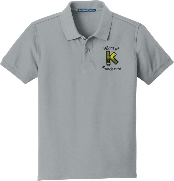 Kindergarten (K) Academy (Hillcrest) Youth  Classic Pique Polo - GREY