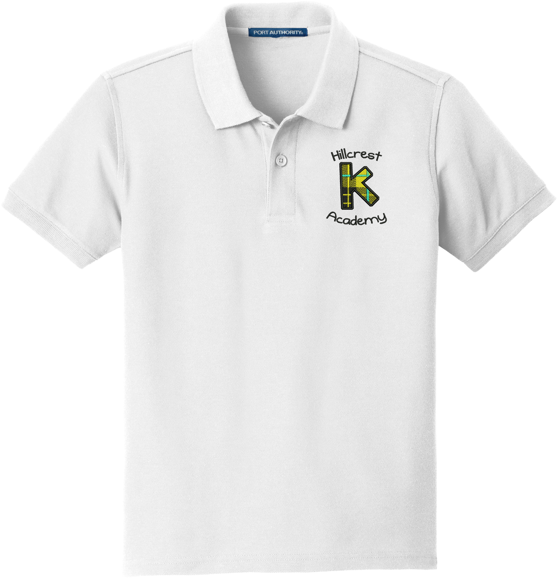 Kindergarten (K) Academy (Hillcrest)  Youth  Classic Pique Polo - WHITE