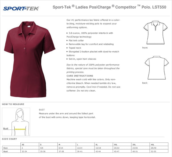 Citrus Ridge Staff Polo INNOVATION Sport-Tek ® Ladies PosiCharge ® Competitor ™ Polo