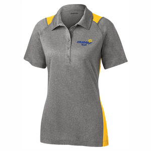 Ladies Sport-Tek Heather/Gold Colorblock Polo - SMS STAFF ONLY