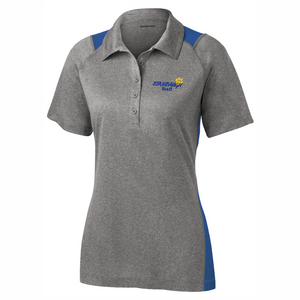 Ladies Sport-Tek Heather/Royal Colorblock Polo - SMS STAFF ONLY