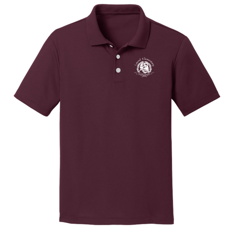 Laurel Elementary Jerzees SpotShield™ Jersey Polo - (Youth & Adult Sizes) - Maroon