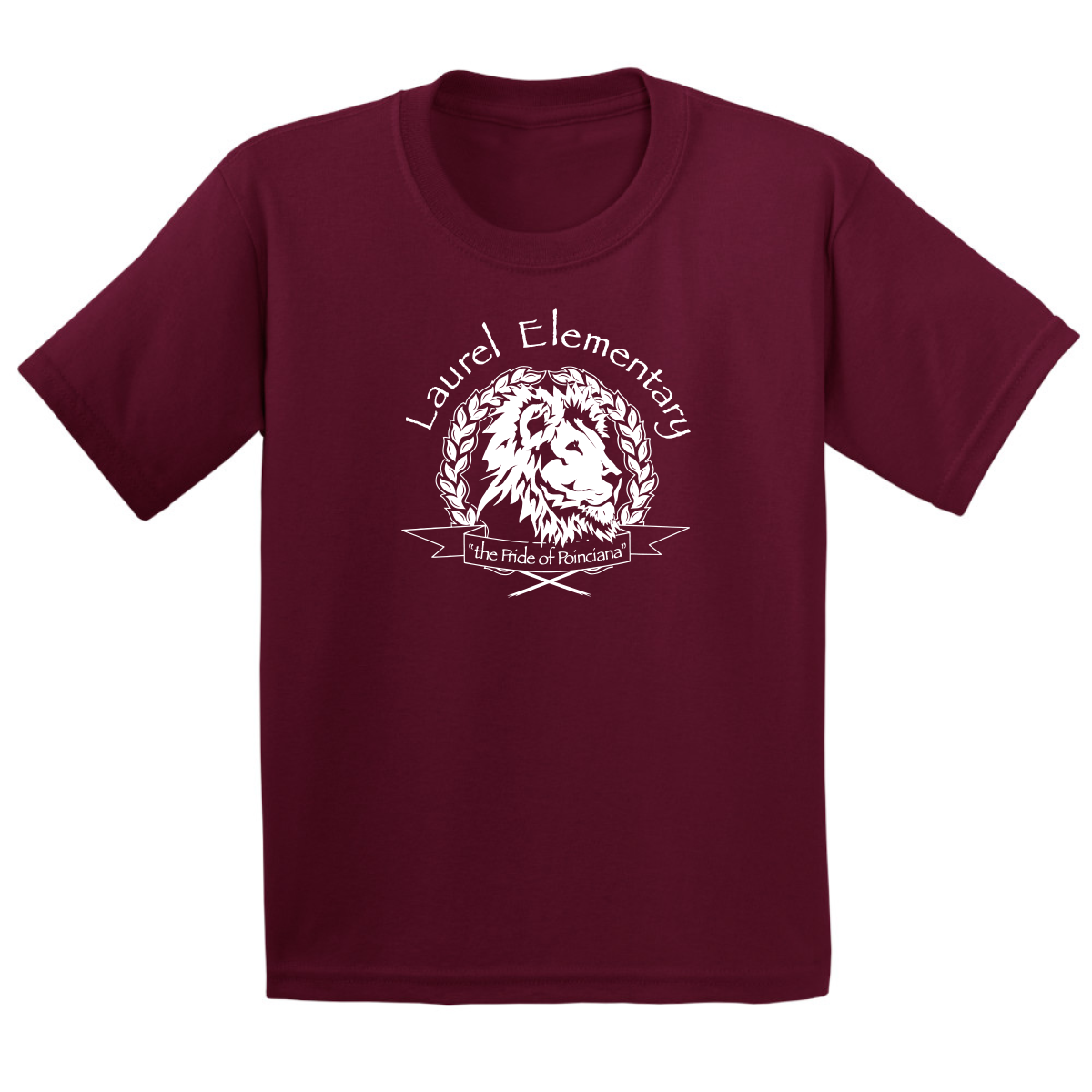 Laurel Elementary T-Shirt - (Youth & Adult Sizes) - Maroon