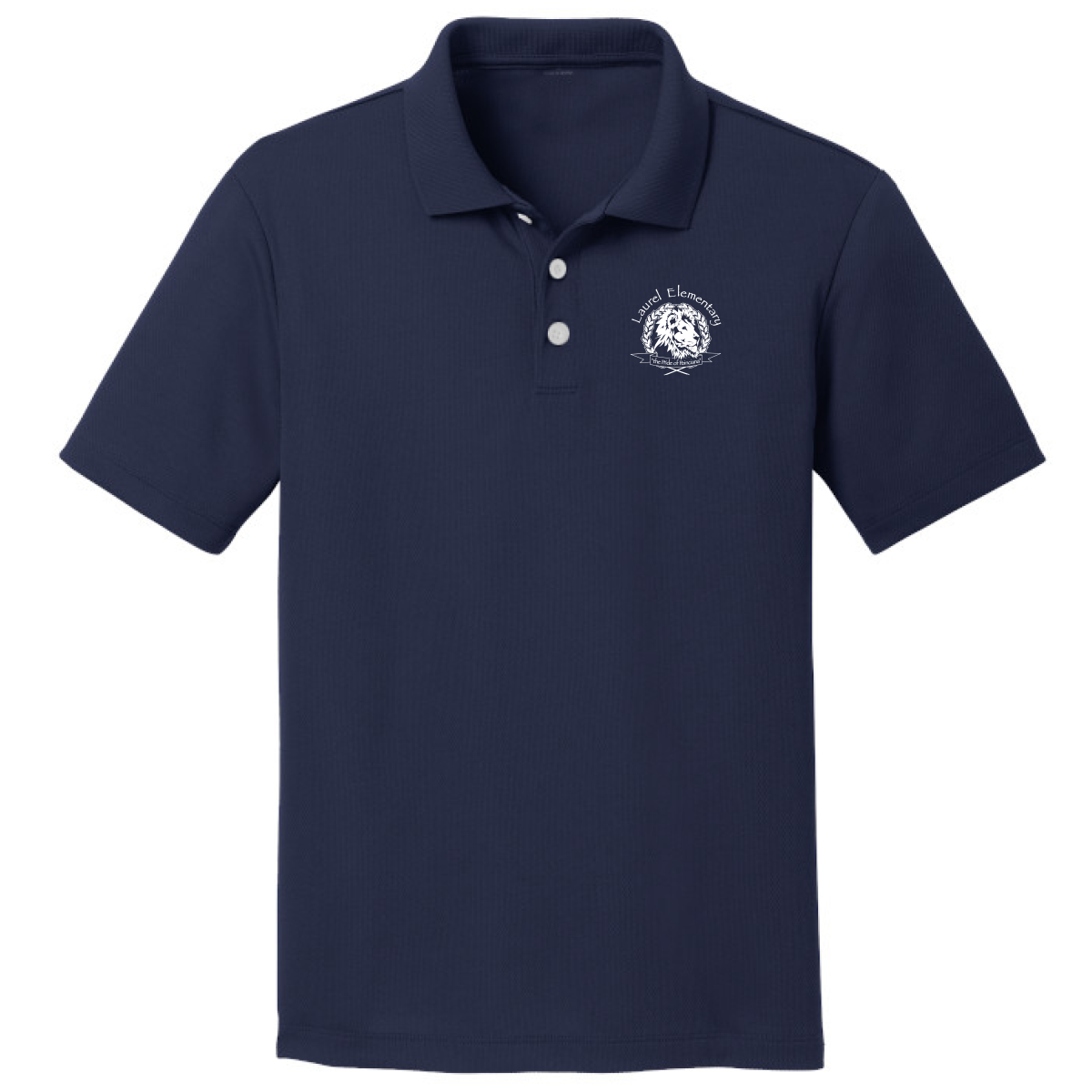 Laurel Elementary Jerzees SpotShield™ Jersey Polo - (Youth & Adult Sizes) - Navy
