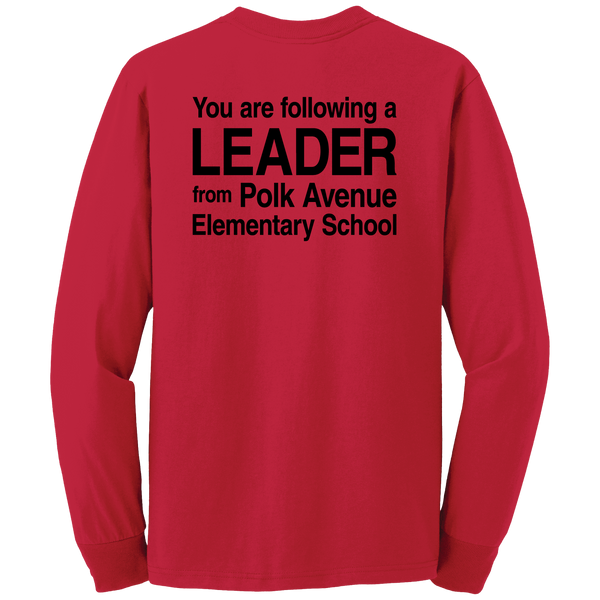 Polk Avenue Dri-Power Active 50/50 Cotton/Poly Long Sleeve T-Shirt - Red