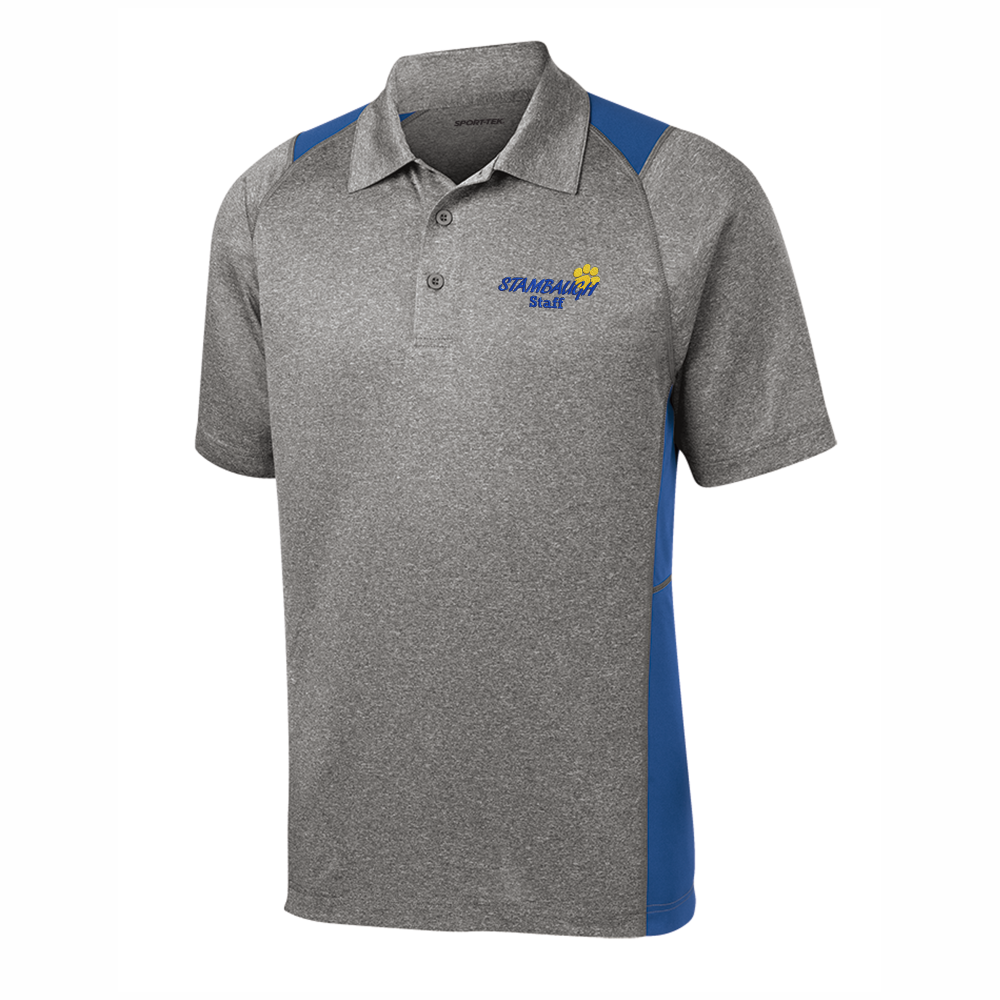 Men's Sport-Tek Heather/Royal Colorblock Staff Polo - SMS STAFF ONLY