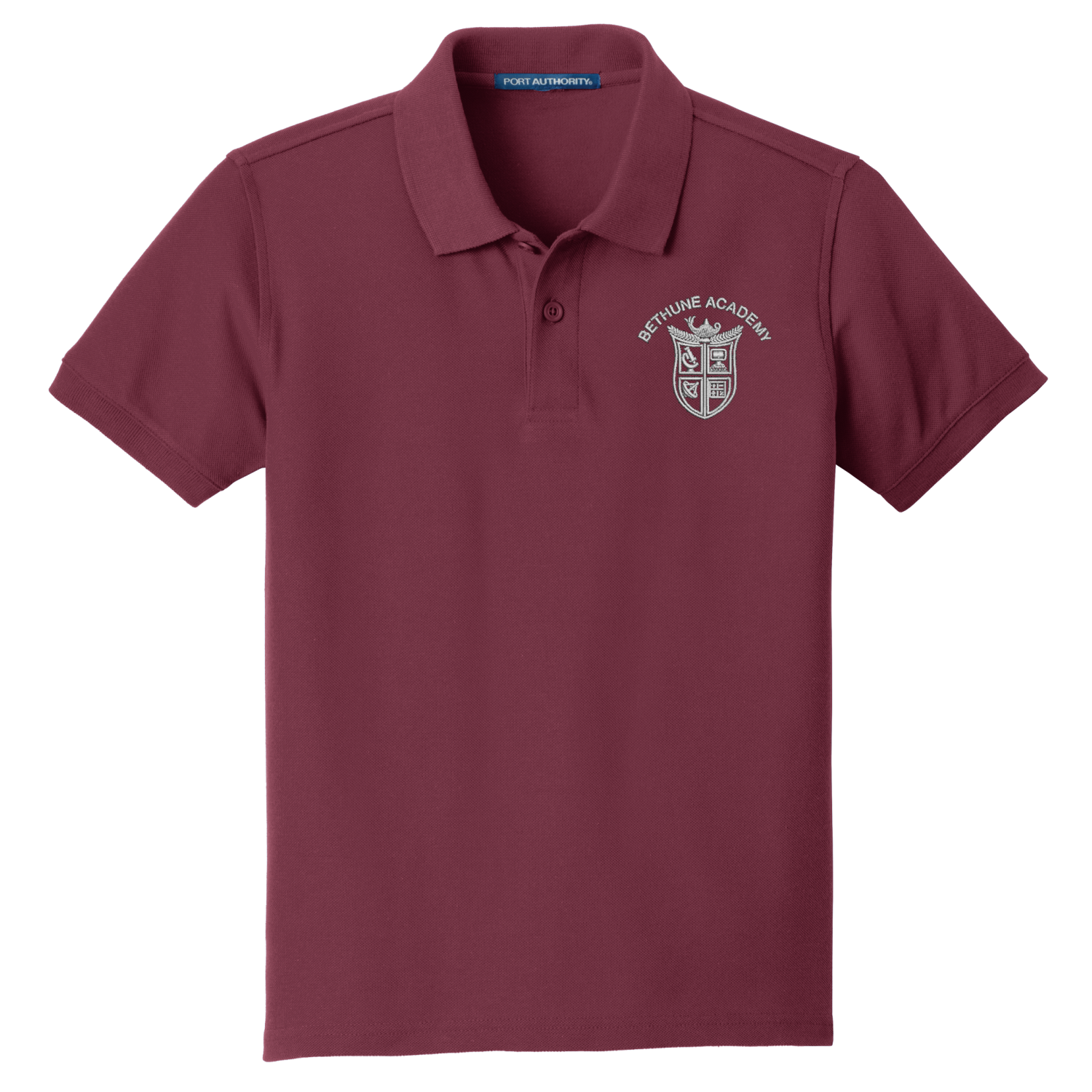 Bethune Academy Port Authority® ADULT SIZE Core Classic Pique Polo - Burgundy