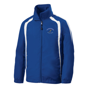 JHW Sport-Tek® Colorblock Raglan Jacket - Royal/White