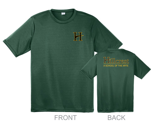 Hillcrest 100% Polyester Moisture Wicking T-shirt - Forest