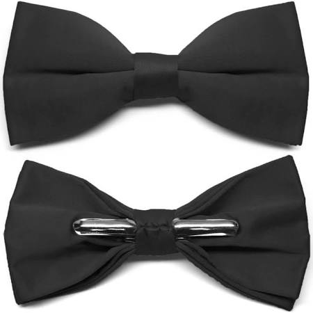 Foundations Academy (Hillcrest) Black Clip-on Bow Tie