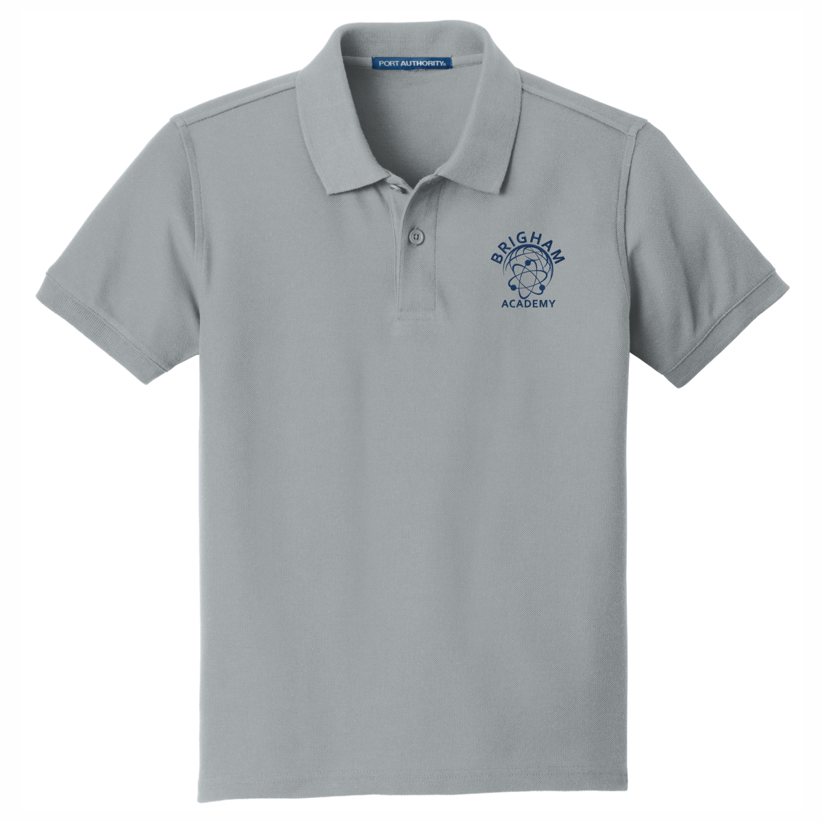 Brigham Academy Port Authority® YOUTH  Classic Pique Polo - Grey