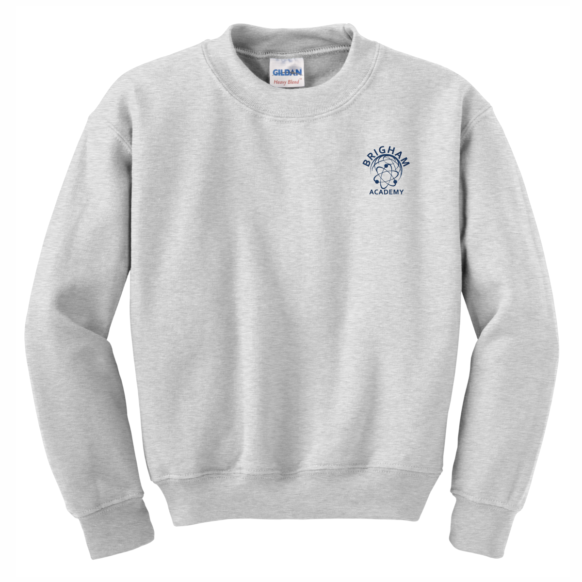 Brigham Academy Youth Heavy Blend Crewneck Sweatshirt - GREY