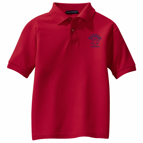Brigham Academy YOUTH SIZE - Port Authority® Classic Pique Polo - RED
