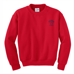 Brigham Academy ADULT SIZE Heavy Blend Crewneck Sweatshirt - RED