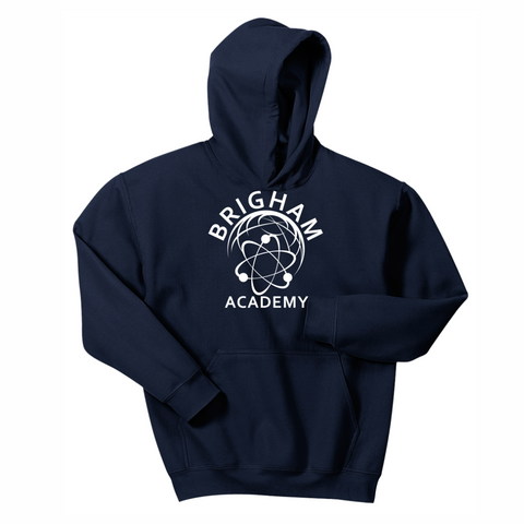 Brigham Academy YOUTH Hooded Sweatshirt - NAVY