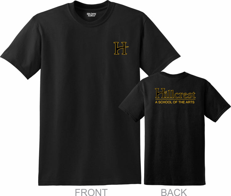 Hillcrest Basic Student T-Shirt - Black